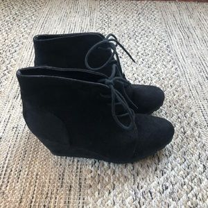 Fall Wedge Booties